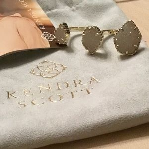 Kendra Scott Naomi ring M/L gold iridescent drusy